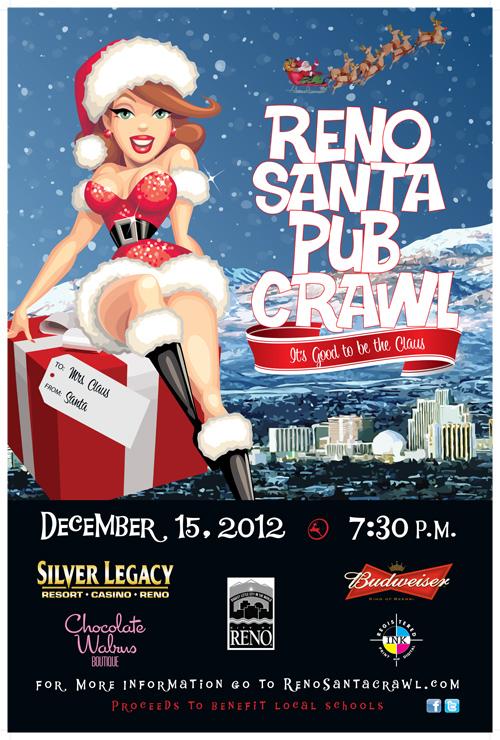 Santa Crawl 2012 Poster